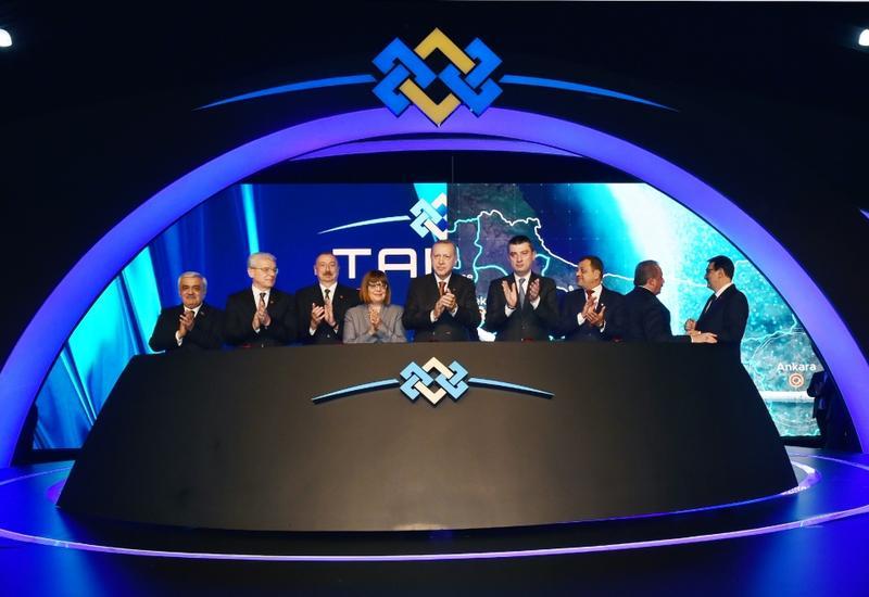 Президент Ильхам Алиев принял участие в церемонии открытия части проекта TANAP, соединяющейся с Европой