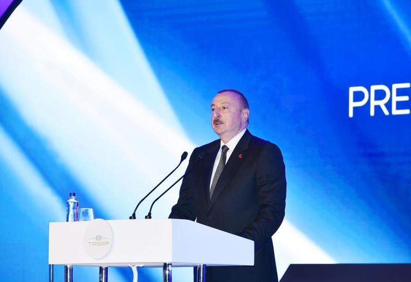 Президент Ильхам Алиев: TANAP принесет пользу и прогресс народам Турции и Азербайджана, соседним народам