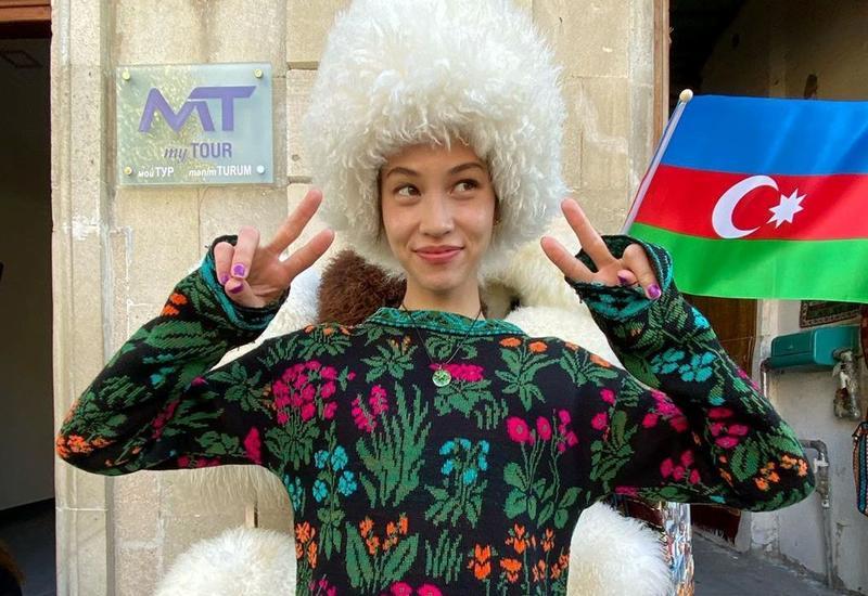 """Известная модель впервые в Баку: """"Красивый синтез футуризма и традиций"""""""