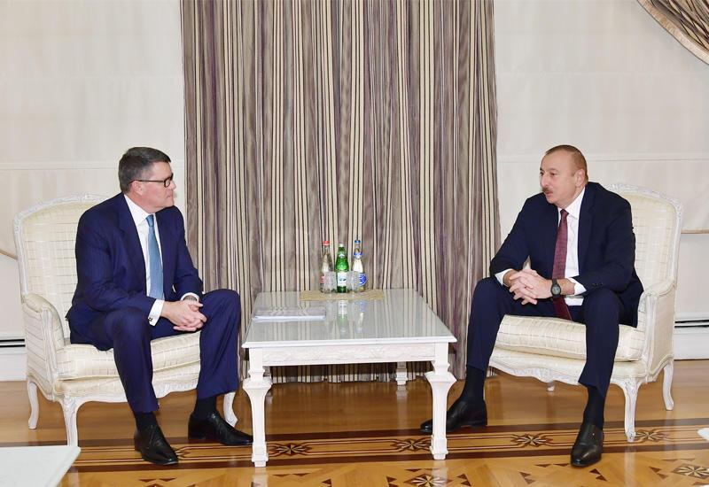 Президент Ильхам Алиев принял делегацию компании CISCO