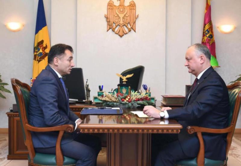 Игорь Додон провел рабочую встречу с послом Азербайджана