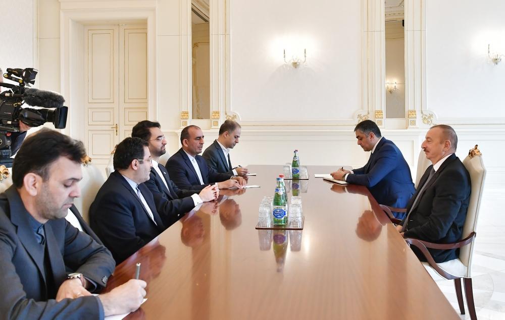 Президент Ильхам Алиев принял министра связи и информационных технологий Ирана