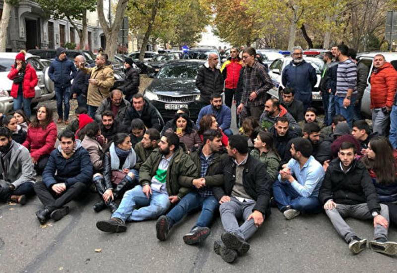 Акция протеста молодежи в Ереване