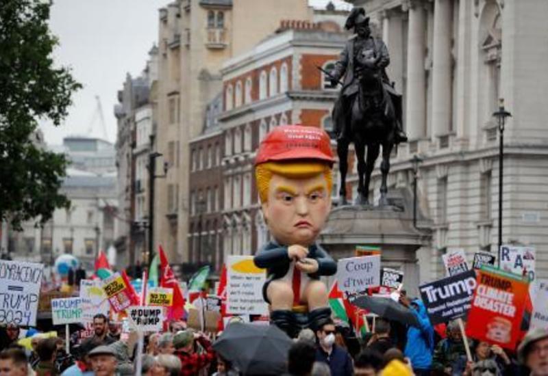 В Лондоне началась акция протеста против действий НАТО и Трампа