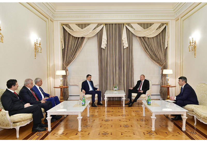 Президент Ильхам Алиев принял делегацию во главе с министром сельского и лесного хозяйства Турции