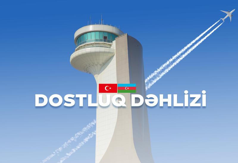 Новый воздушный коридор между Азербайджаном и Турцией назван «Коридором Дружбы»