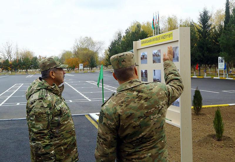 Закир Гасанов открыл военные объекты в прифронтовой зоне