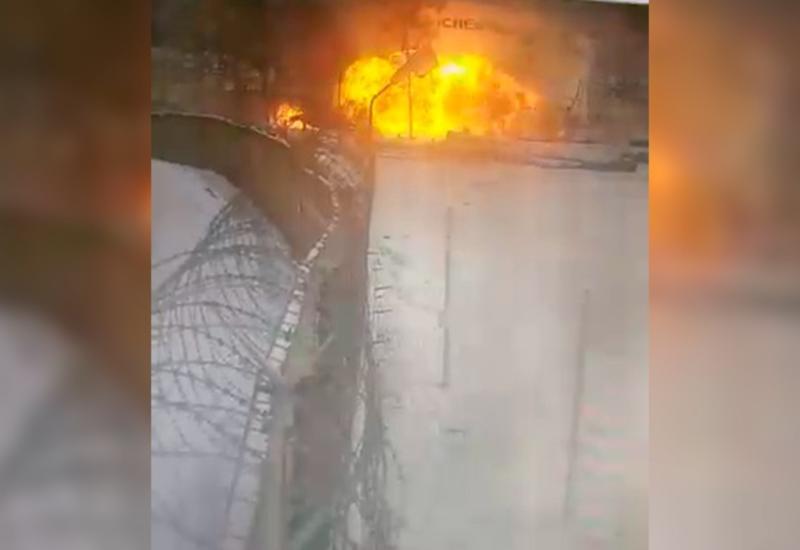 Момент взрыва на нефтестанции в Татарстане попал на камеры