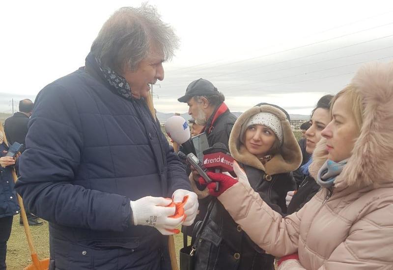 Фархад Халилов: Сажать деревья по случаю юбилея Насими — вдвойне почетное дело