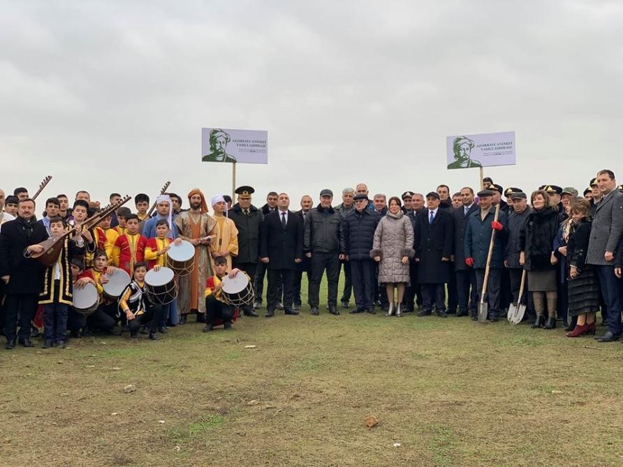 Жители Абшеронского района приняли активное участие в кампании по посадке деревьев