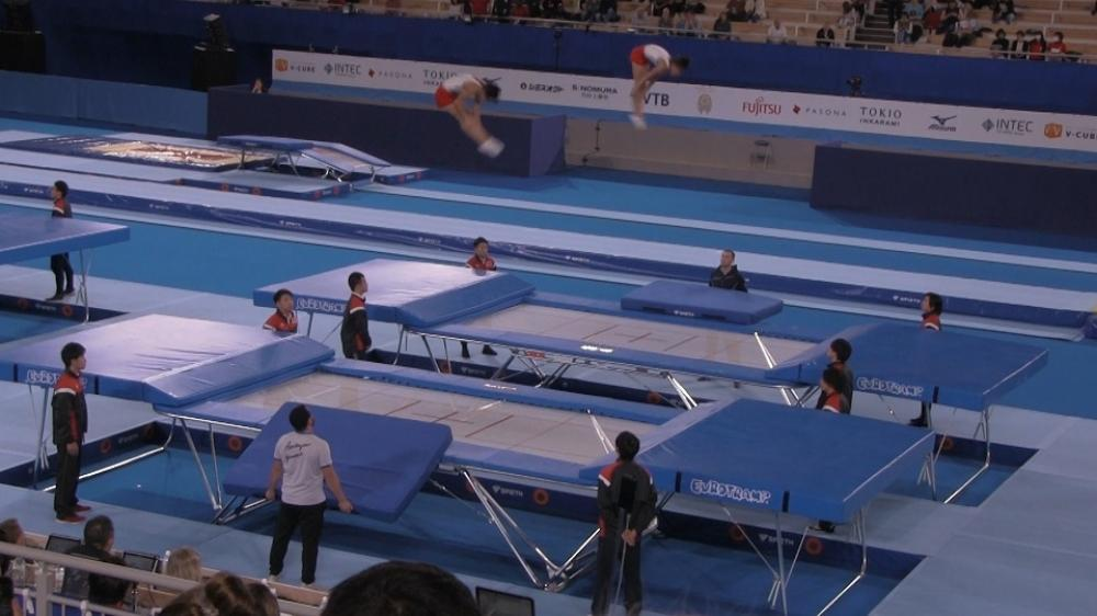 Азербайджанские гимнасты заняли второе место на мировых соревнованиях возрастных групп по прыжкам на батуте