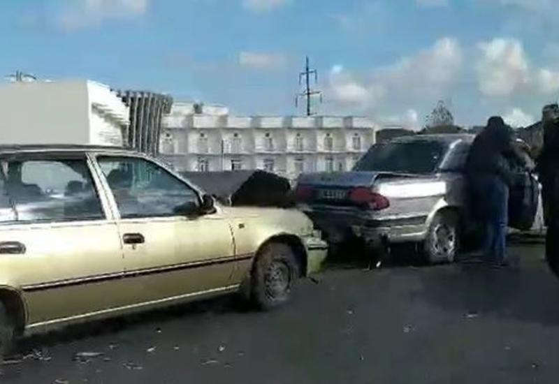 Цепная авария на дороге Баку-Сумгайыт