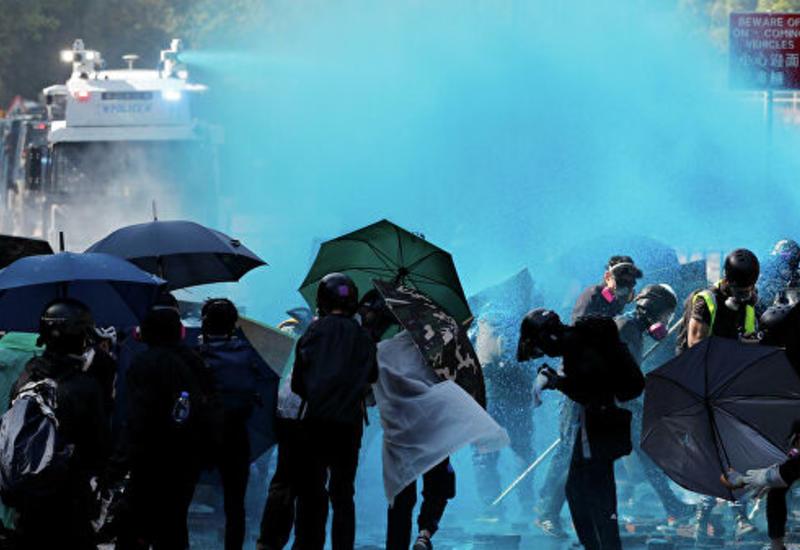 В Гонконге перед началом манифестации задержали 11 человек с оружием