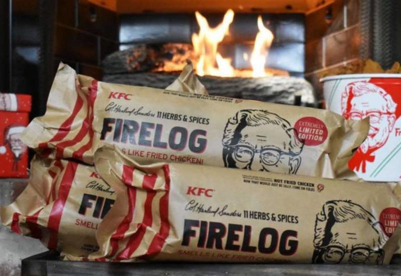 KFC начала продавать поленья с запахом жареной курицы