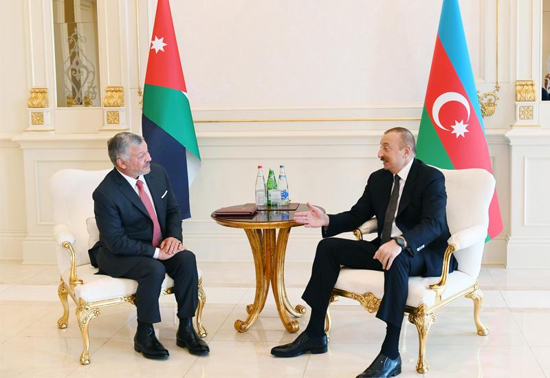 Состоялась встреча Президента Ильхама Алиева с Королем Иордании Абдаллой ll один на один