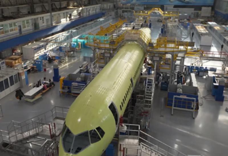 Сборку российского «самолета XXI века» показали на видео