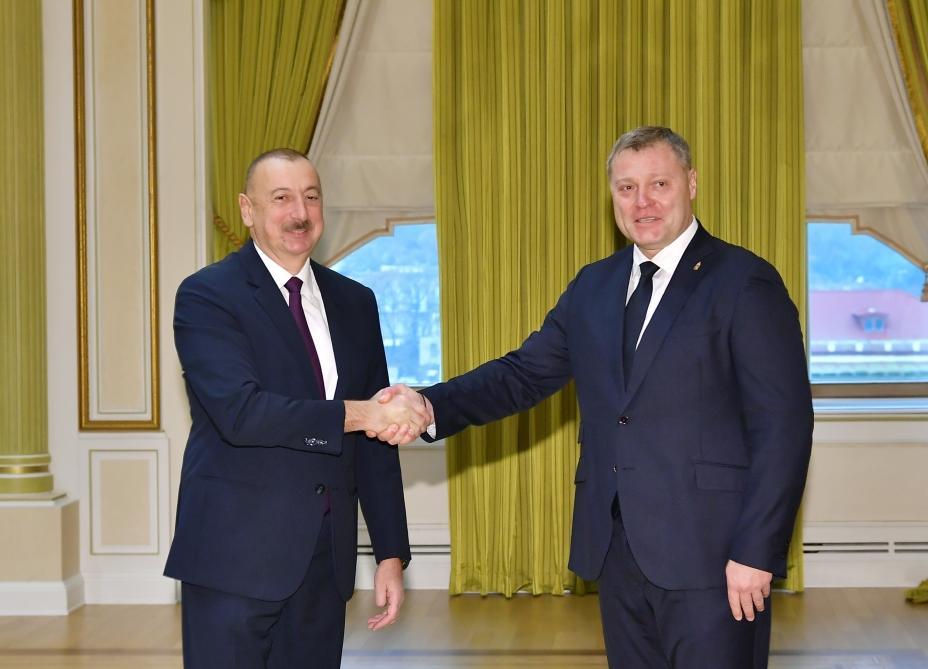 Президент Ильхам Алиев принял делегацию во главе с губернатором Астраханской области РФ