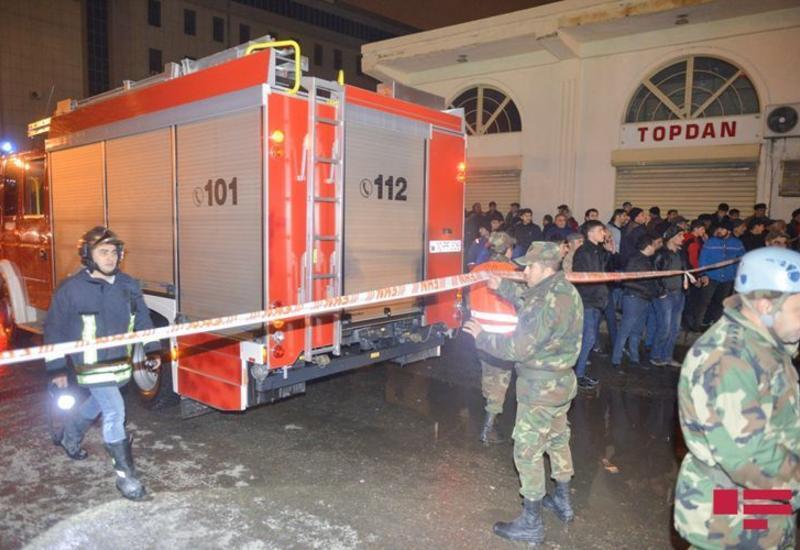 Начальник ГПС подробно рассказал о пожаре на рынке в Баку