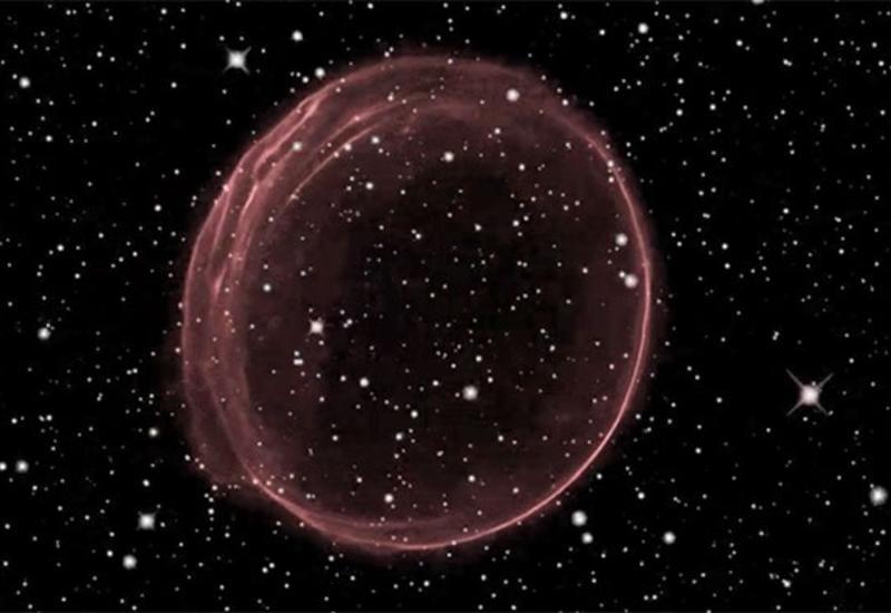 В космосе найден объект, похожий на гигантскую елочную игрушку