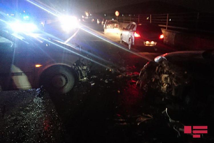 Цепная авария на дороге Бинагади-Хырдалан