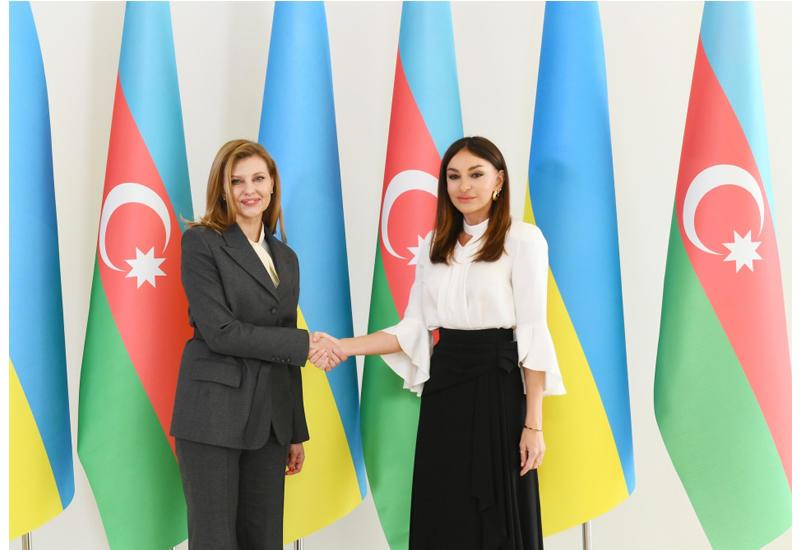 Первый вице-президент Азербайджана Мехрибан Алиева встретилась с Первой леди Украины Еленой Зеленской