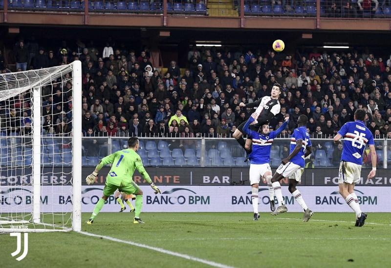 Роналду забил «Сампдории» с высоты 2,56 метра