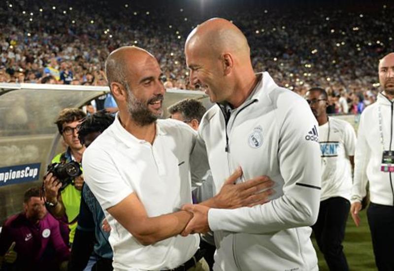 Зидан назвал Гвардиолу лучшим футбольным тренером в мире