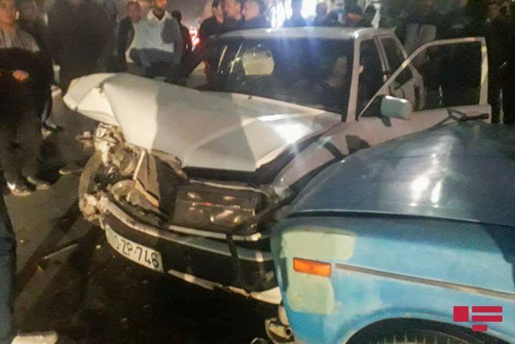 В Гяндже произошла цепная авария, есть пострадавшие