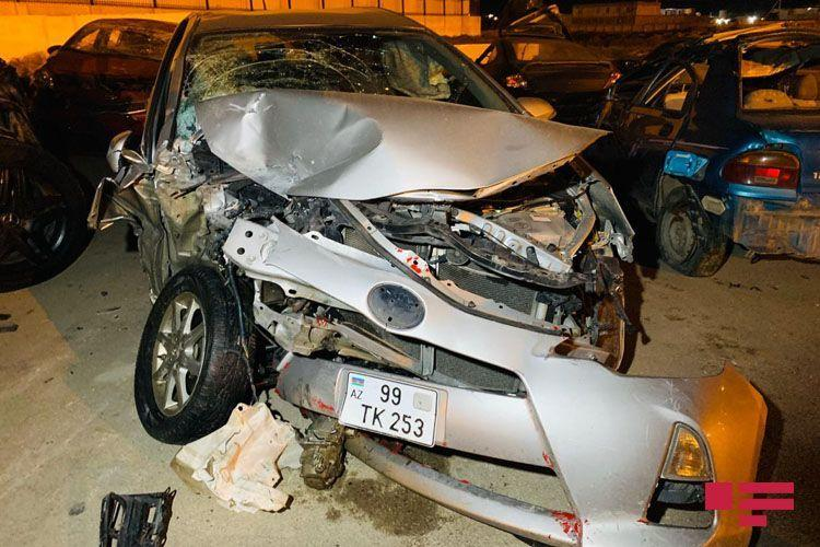 Gelandewagen попал в тяжелое ДТП на трассе Баку-Сумгайыт