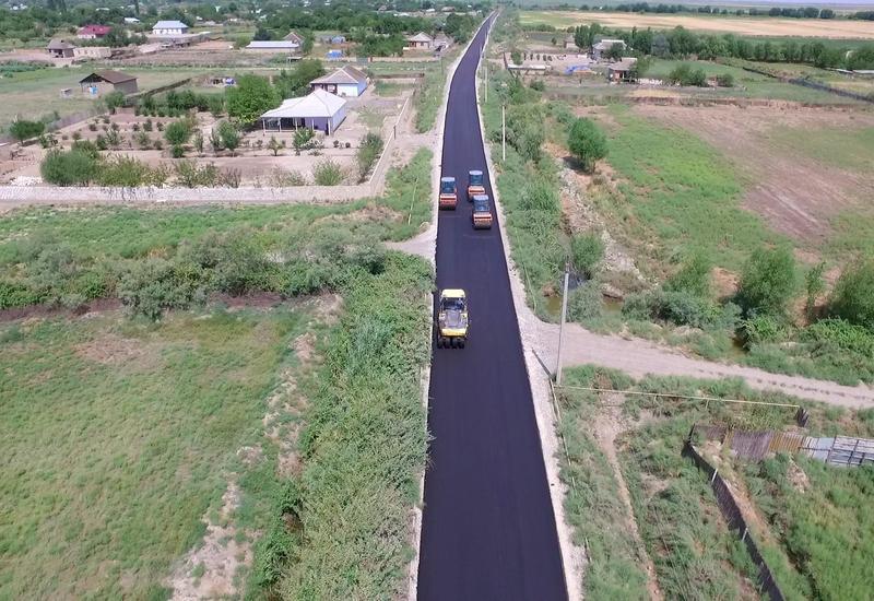 В одном из районов Азербайджана отремонтировали ряд дорог