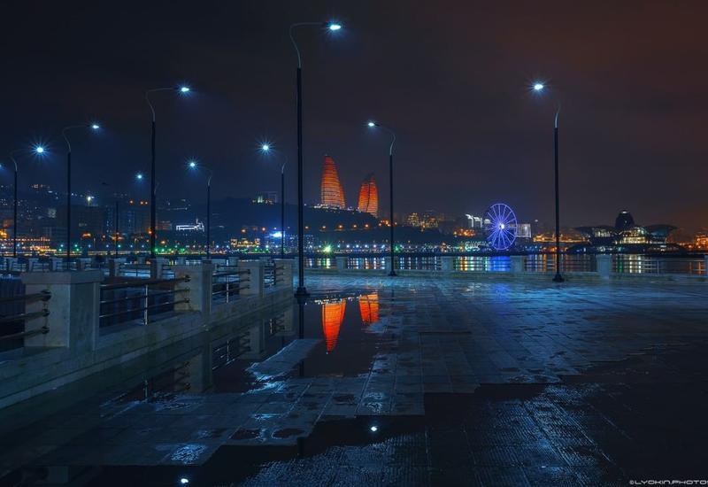 Дождливый Баку в последние дни 2019 года