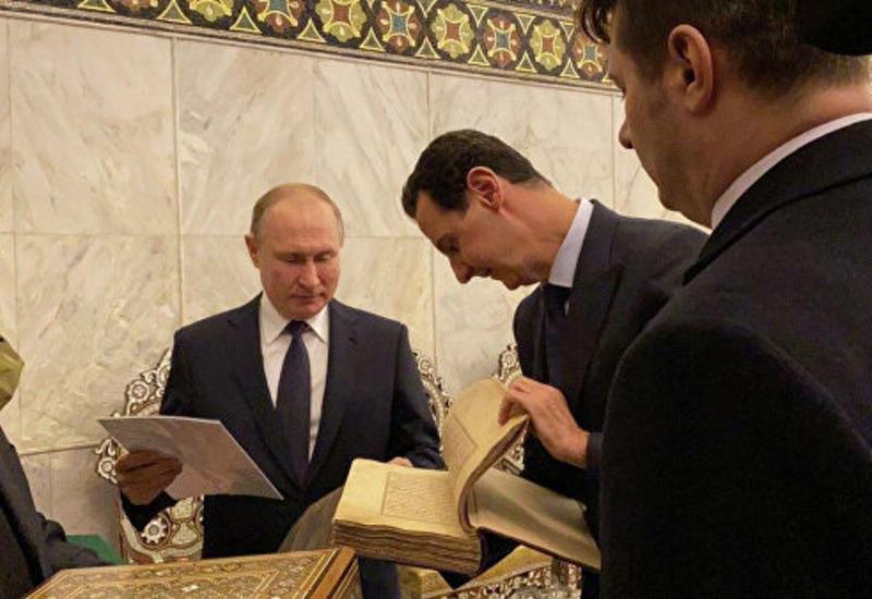 Владимир Путин подарил Большой мечети Дамаска Коран XVII века