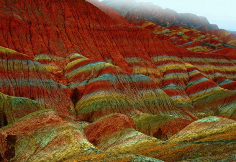Ландшафт Дэнксия - необычные горы Китая
