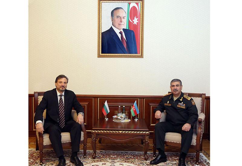 Закир Гасанов на переговорах с послом Болгарии