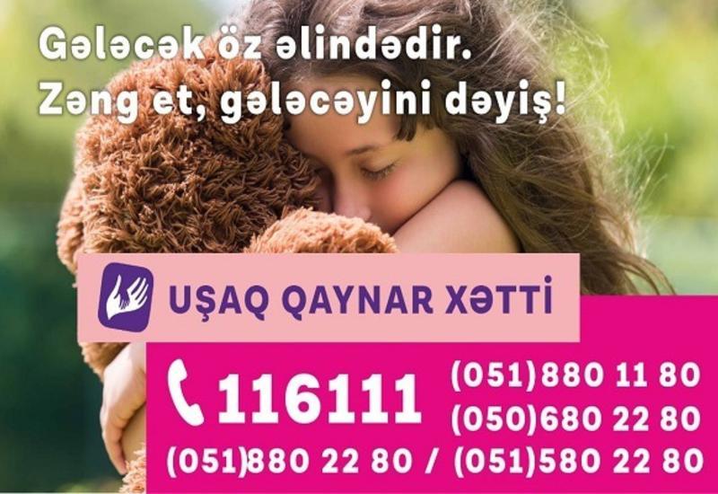 """Служба """"Детская горячая линия"""", функционирующая при поддержке Azercell, приняла 5061 обращение в 2019 году (R)"""
