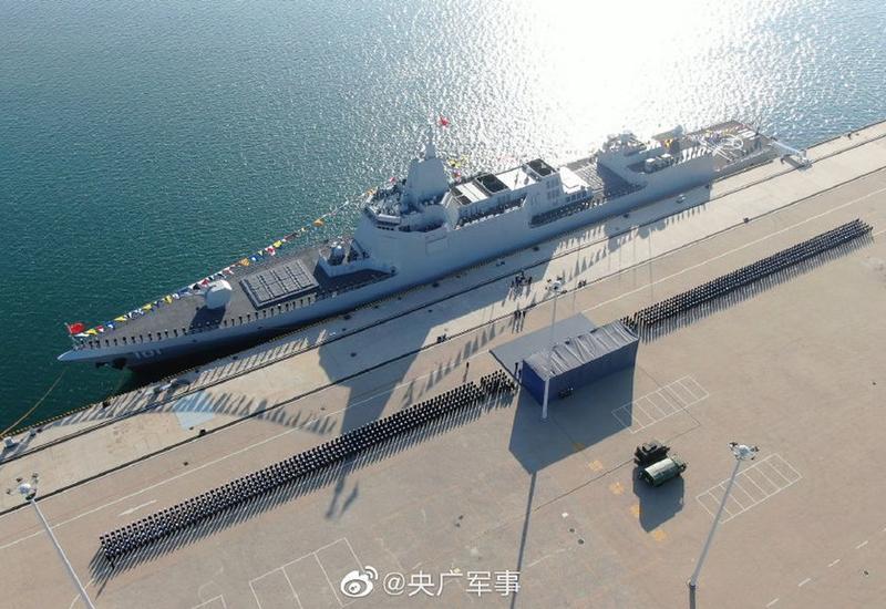 В Китае ввели в строй самый мощный в мире эсминец