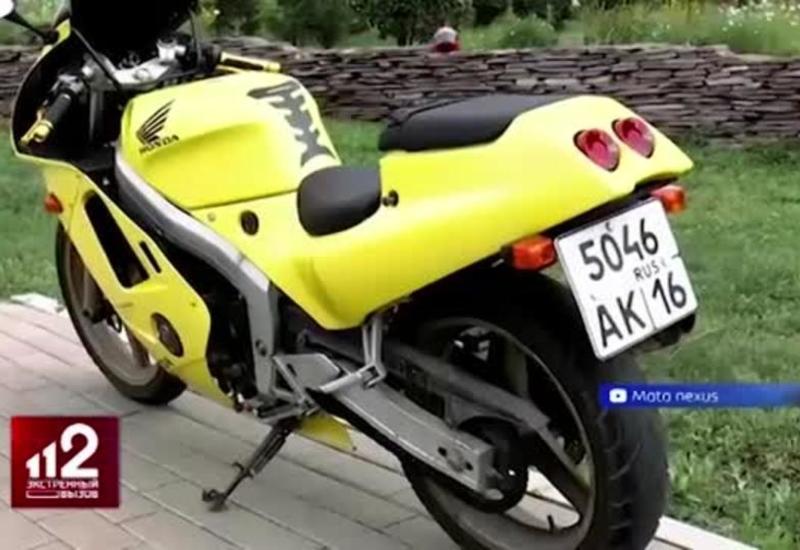 Три попытки угона редкого мотоцикла сняли на камеры