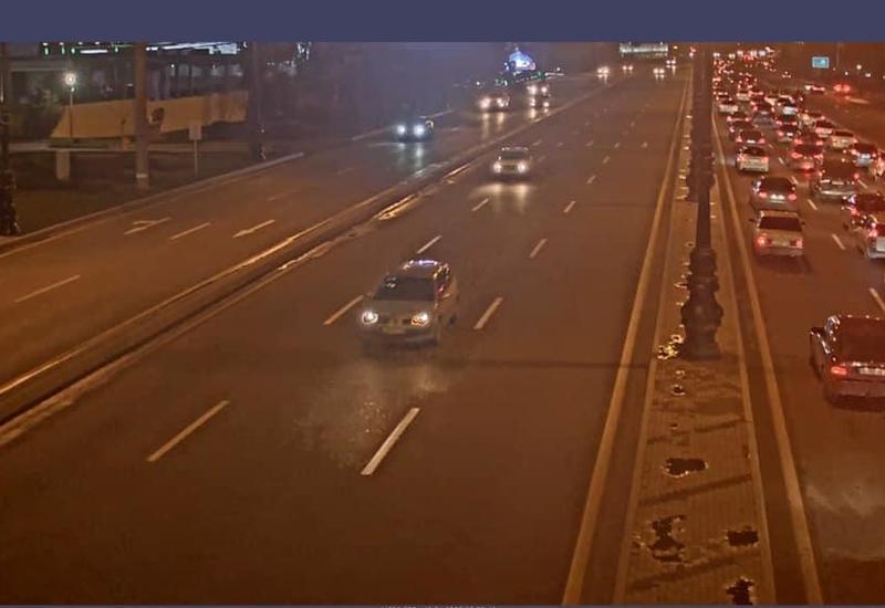 ДТП на крупном проспекте в Баку
