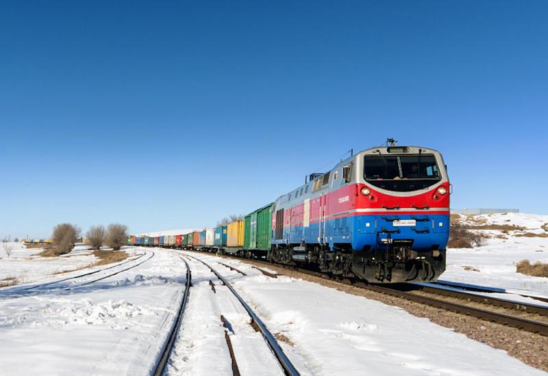 Названо количество контейнерных поездов, отправленных из Китая через Каспий