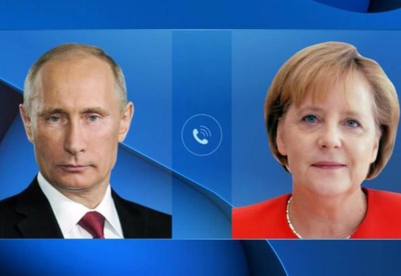 Путин и Меркель поговорили по телефону