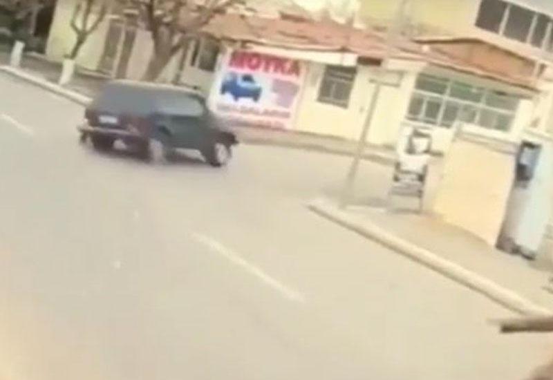 Gəncədə 16 yaşlı sürücünün öldüyü qəzanın VİDEOsu
