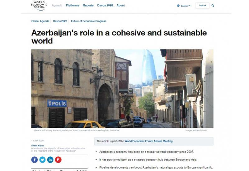 Prezident İlham Əliyev: Azərbaycanın vahid və dayanıqlı dünyada rolu