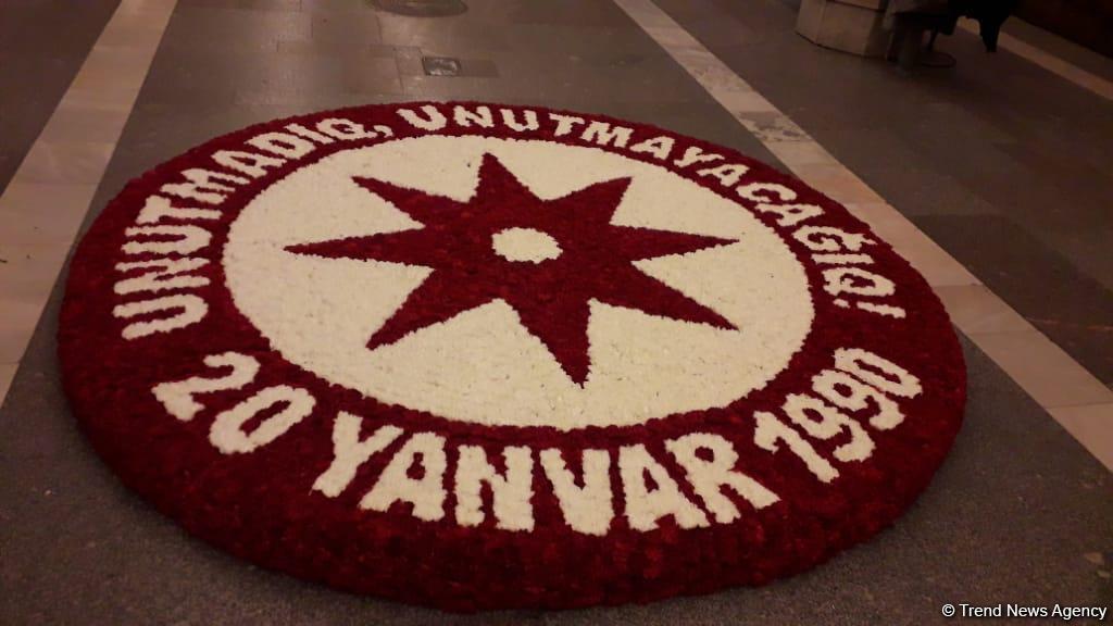 В Азербайджане почтили память шехидов 20 Января минутой молчания