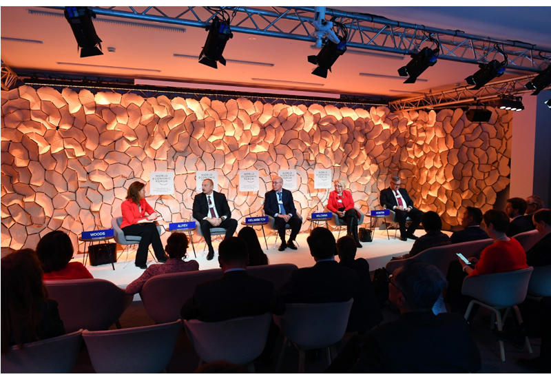Президент Ильхам Алиев принял участие в панели на тему «Стратегический взгляд: Евразия» Давосского всемирного экономического форума