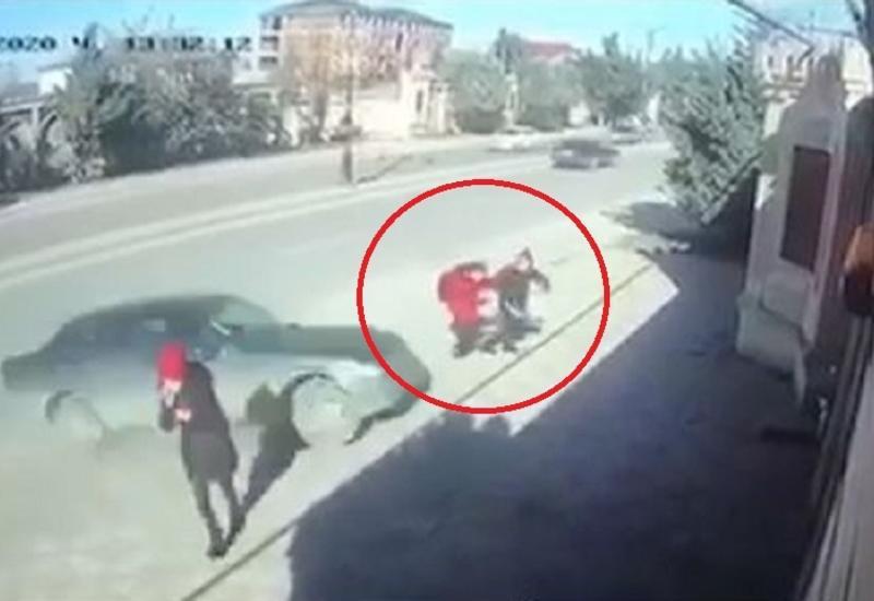 Жуткое ДТП в Хырдалане: автомобиль на большой скорости сбил двух школьниц
