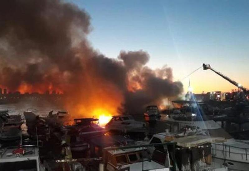 Сильный пожар в Стамбуле