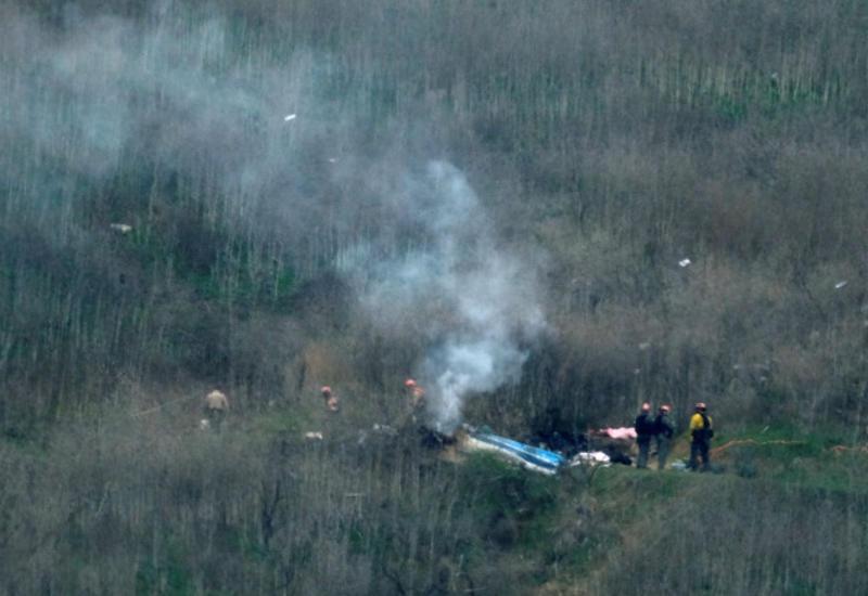 Появились кадры с места крушения вертолета Коби Брайанта