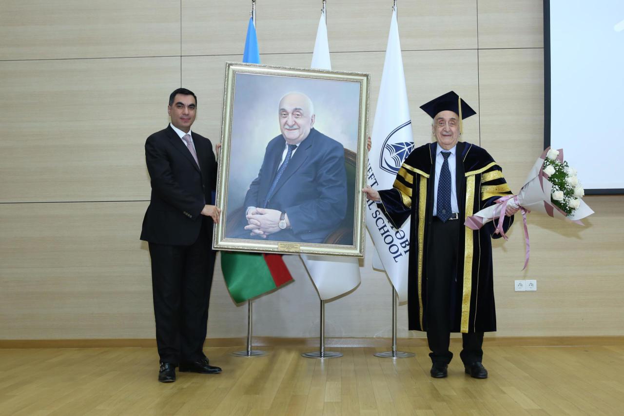 Первый вице-президент SOCAR, академик Хошбахт Юсифзаде награжден дипломом Почетного профессора БВШН