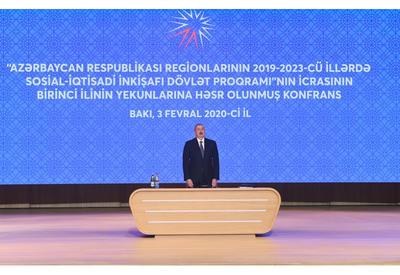 Президент Ильхам Алиев принял участие в конференции, посвященной итогам первого года исполнения Госпрограммы социально-экономического развития регионов в 2019-2023 годах -  ОБНОВЛЕНО - ФОТО - ВИДЕО