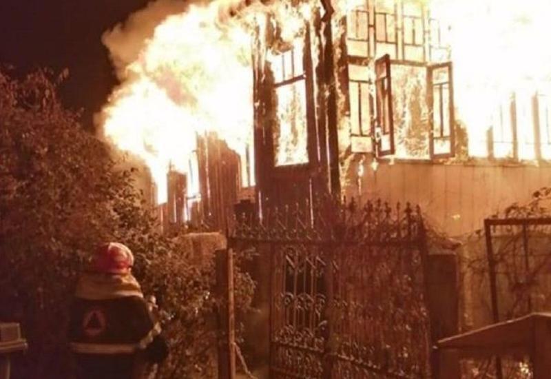 Сильный пожар в Грузии, есть погибшие